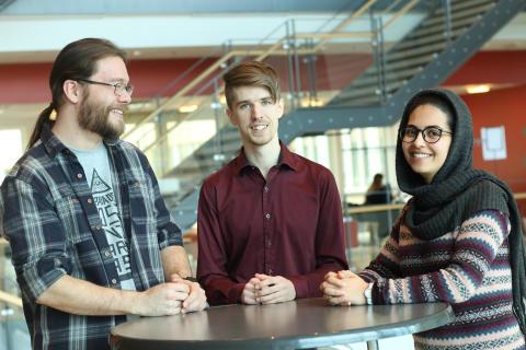 Studenter från Karlstads universitet på Google Summit