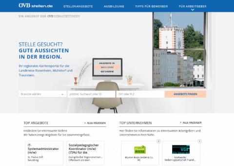 OVBstellen.de: Jobbörse für Landkreise Rosenheim, Traunstein und Mühldorf bekommt neues Gesicht