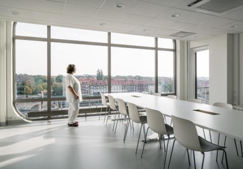Personalrum på ögonmottagningen, Helsingborgs lasarett