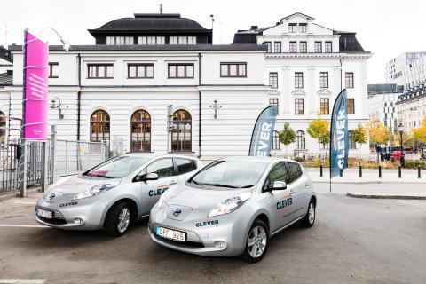 CLEVER öppnar ny elbilspool vid Stockholm C