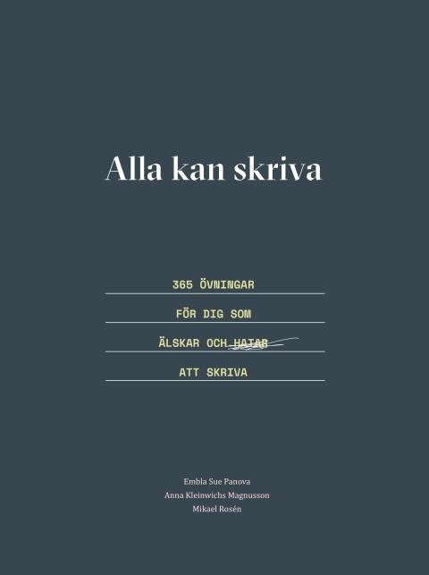 Boksläpp - Skrivbok av  lärare på Berghs School of Communication och Forsbergs reklamskola.