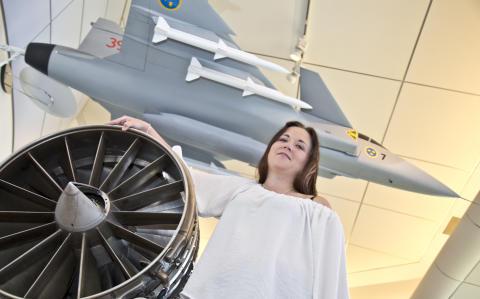 Forskning: Veronica Fornlöf vill förbättra livslängden för flygmotorer