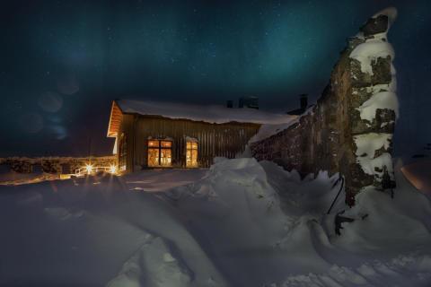 Niehku Mountain Villa vid Riksgränsen.