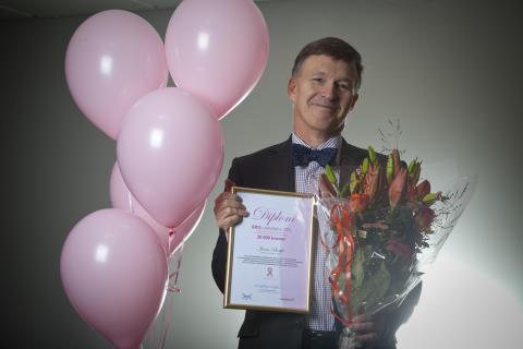 Bröstcancer utmärkelse 2012 till professor Jonas Bergh