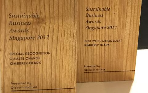 Kimberly-Clark Asia Pacific Recognized at Singapore Sustainable Business Awards 2017