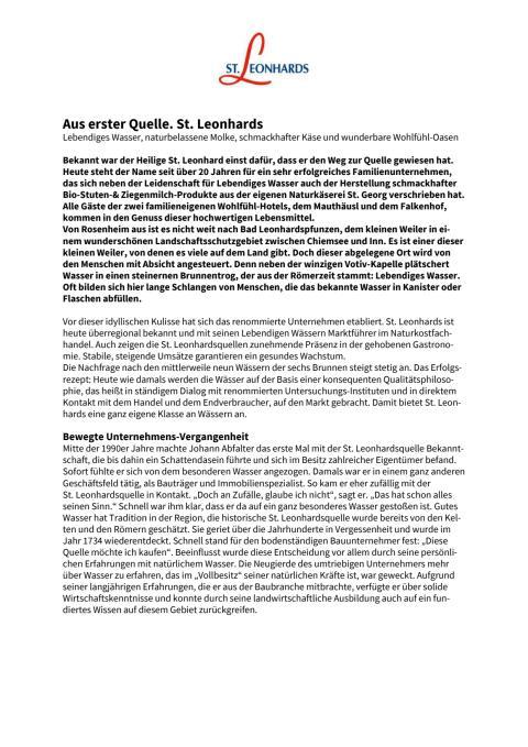 St Leonhards_Aus erster Quelle
