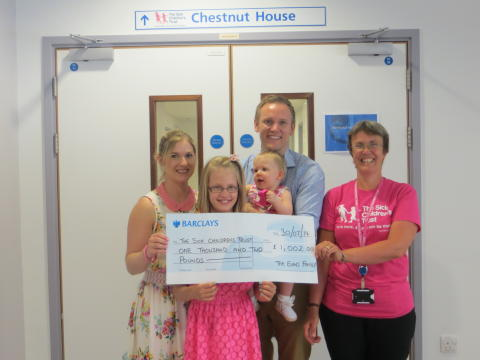 Evins family say thank you to Chestnut House with fantastic fundraising