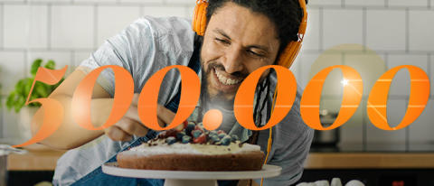 Storytel passerar 500 000 betalande abonnenter