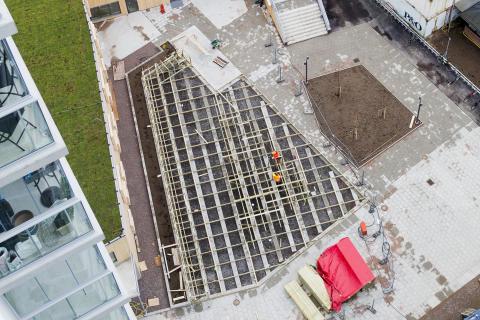 Byggmaterialanvändningen växte svagt 2017