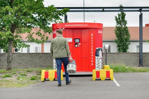AGA nestekaasuautomaatti Vantaa10