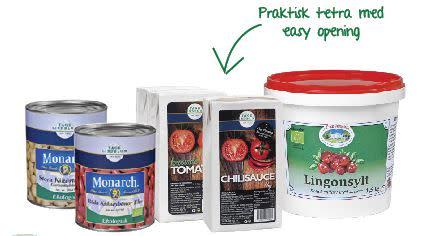 Smarta förpackningar för att underlätta för dig som jobbar i köket.
