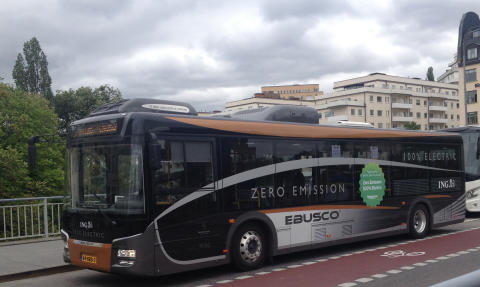 Flygbussarna testkör elbuss