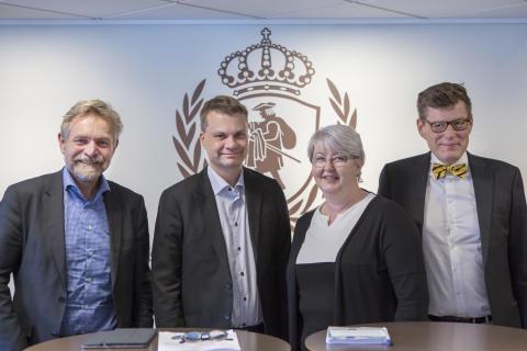 Presskonferens kring polisutbildning i Borås