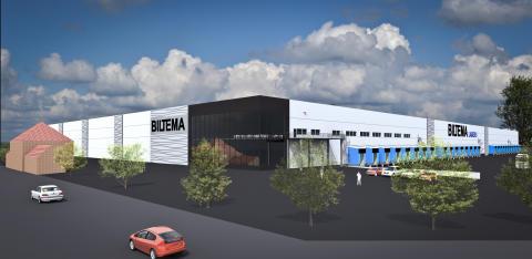Biltemas femte lager ska byggas i Halmstad med betongstomme från Abetong