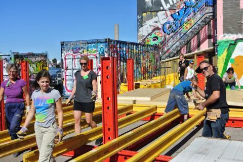 Nu bygger vi ett uterum tillsammans – Recetas Urbanas utvecklar nästa steg av Jubileumsparken