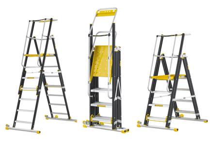 Wibe Ladders lanserer høydejusterbar  arbeidsplattform