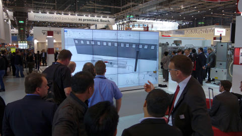 Clear, easy and intelligent - the new FlexLink  Design Tool caught much interest at Interpack 2014.