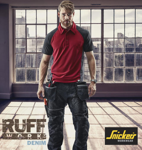 RuffWork Denim arbeidsbukse fra Snickers Workwear