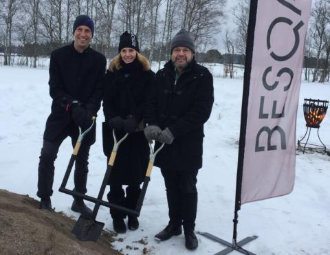 Första spadtaget för nytt äldreboende i Ultuna Trädgårdsstad, Uppsala