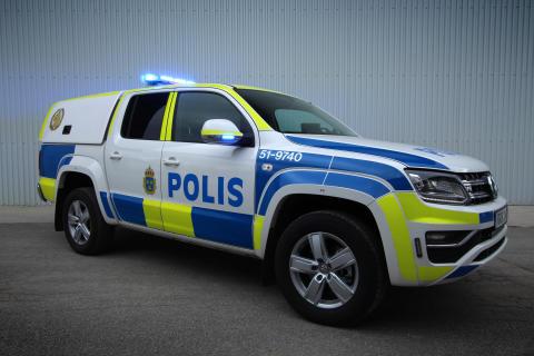 Polishundbilarna baseras på Volkswagen Amarok V6 TDI