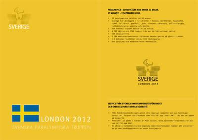 Sveriges Paralympiska Kommitté ger ut mediematrikel inför Paralympics