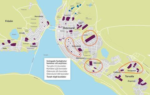 Östersundshem säljer delar av beståndet för att kunna bygga