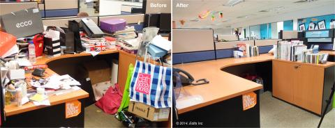 Before and after - writer's desk