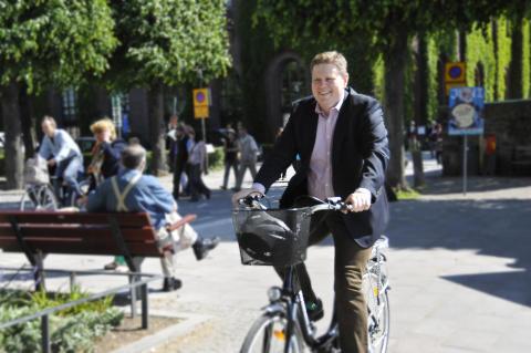 Per Ankersjö (C): Idag invigs Götgatans nya cykelbana