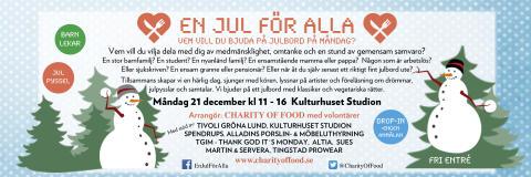 Gröna Lund skänker bort hela julbordet till #EnJulFörAlla idag på Kulturhuset Studion, kl 11-16