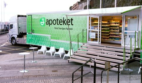 Mobilt apotek öppnar i Berga centrum