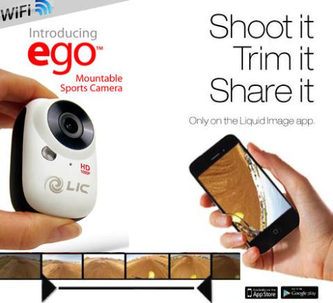 RLVNT presenterar Liquid Image EGO actionkamera, klipp och redigera direkt i Appen!