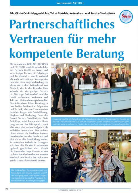 Die GEHWOL-Erfolgsgeschichte: Vertrieb, Außendienst und Service-Werkstätten
