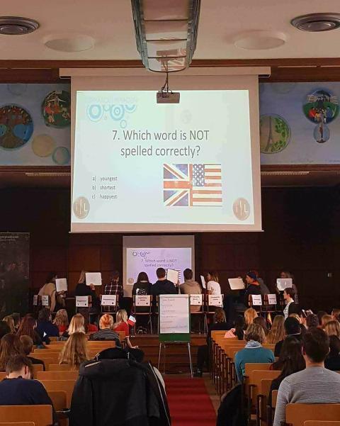 Olympiaskolan värdar för Språkolympiadens regionfinal