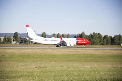 Norwegians allra första Boeing 737 MAX är här