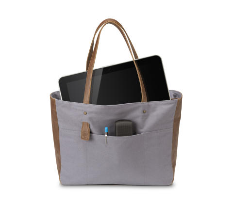 HP 14tommer  Ladies Canvas Tote (Grey) In UseHP20150727810