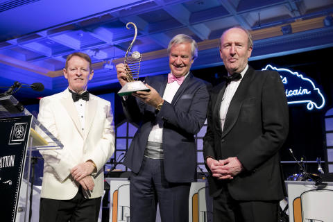 Bjorn Kjos receives 'Outstanding Contribution to Aviation' award from Irish aviation industry