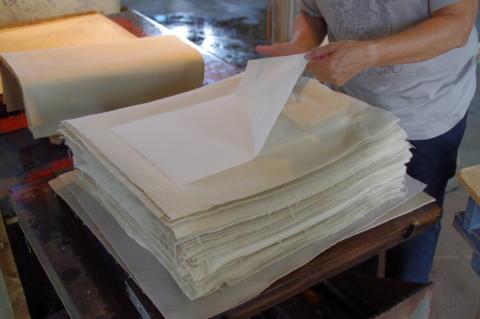 Papperstillverkning på Lessebo handpappersbruk