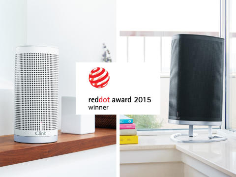 """Danish multiroom speakers from Clint Digital honoured with a """"Product Design 2015"""" Red Dot Award"""