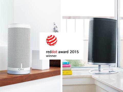 """Clint Asgard høyttalere vinner """"Product Design 2015"""" Red Dot Award"""
