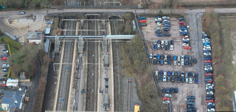 Tring station aerial Feb 2019