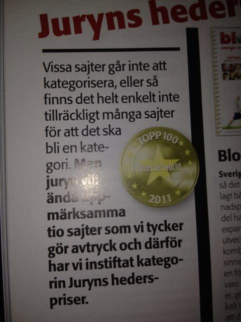 Mynewsdesk på #Topp100 sajter i Sverige