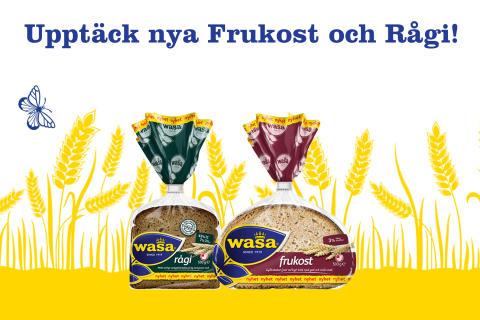 Några av Wasas populäraste knäckebröd blir nu även mjukt bröd - Frukost och Rågi