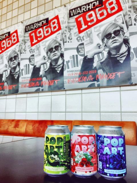 Pop Art Craft Soda på Moderna Museet under Andy Warhols utställning