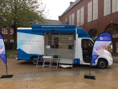 Beratungsmobil der Unabhängigen Patientenberatung kommt am 23. Oktober nach Bremerhaven.