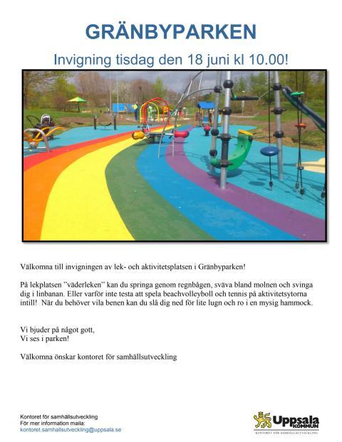 Invigning Gränbyparken