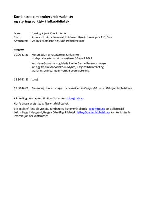 Program for konferansen