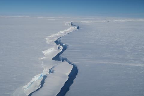 Chasm 1 in the Brunt Ice Shelf (credit Jan De Rydt)
