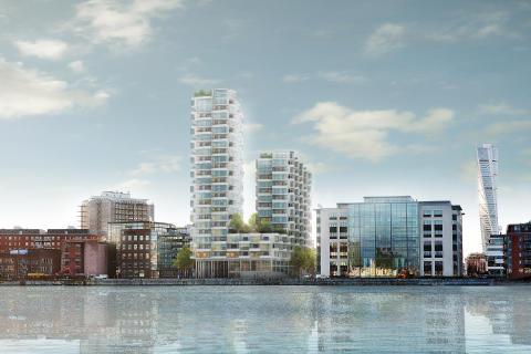 FOJAB arkitekter ritar nytt landmärke i Västra Hamnen, Malmö