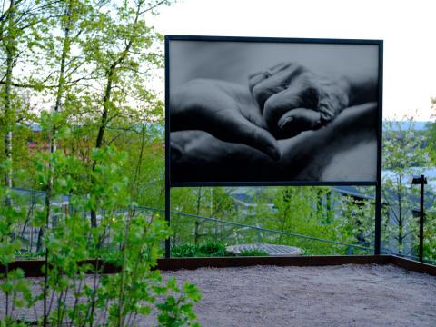 Utendørs fotoutstilling åpnes på Carl Berner: Canon har stått for all print