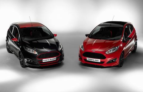 Ford lanserer Fiesta Red Edition og Fiesta Black Edition med den prisbelønte 1.0-liters EcoBoostmotoren i en råsterk 140 HK-versjon.